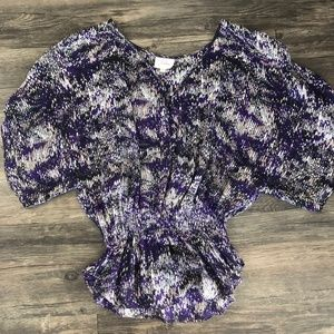 Parker Silk Flowy Purple Blouse